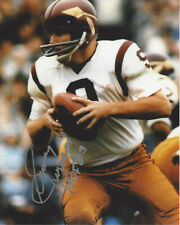 SONNY JURGENSEN WASHINGTON REDSKINS QB SIGNED AUTHENTIC 8x10 PHOTO COA NFL HOF