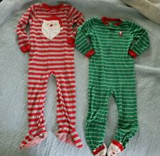 Lot Of 2 Boys Fleece Footed Sleepers ,Christmas/Holiday Sz 5t