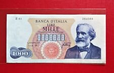 1962 Italy 1000 Lire Mille Banknote