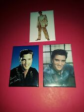 3 ELVIS PRESLEY FRIDGE MAGNETS MARKED ELVIS PRESLEY ENTERPRISES 1995-96-97  NEW