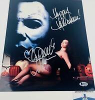 Danielle Harris signed Halloween 11X14 METALLIC photo BAS COA H32727
