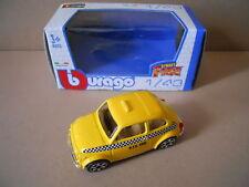 Fiat 500 Giallo Taxi NYC Modellino Bburago 1:43 Die Cast [MV15]
