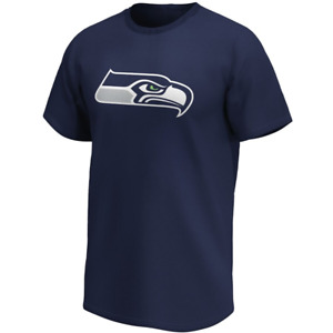 Seattle Seahawks T-Shirt Men's Primary Colour Logo T-Shirt - Navy - New