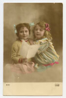 1910s Child Children CUTE LITTLE GIRLS vintage photo postcard