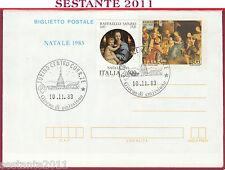 ITALIA FDC BIGLIETTO POSTALE RAFFAELLO SANZIO NATALE 1983 ANNULLO TORINO T333