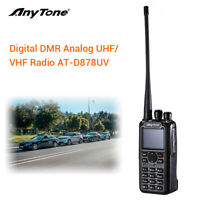 AnyTone AT-D878UV Tier I II GPS Dual Band DMR/Analog Radio w/ Programming Cable
