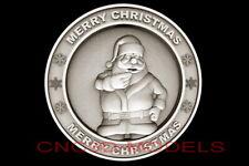 3d Model Stl For Cnc Router Artcam Aspire Merry Christmas Santa Claus D700