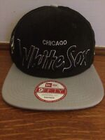 CHICAGO WHITE SOX MLB NEW ERA BLACK WITH GRAY VISOR 9FIFTY ADJUSTABLE SNAPBACK