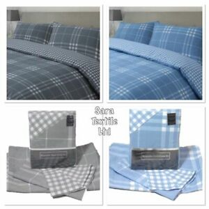 Luxury Reversible Duvet Cover With Pillow Case Quilt Cover Bedding Set