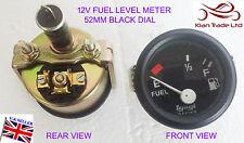 "VINTAGE GEEP auto 2"" 52mm UNIVERSALE AUTO 12V livello carburante Gauge Meter-M619 NERO"
