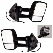 New Black Pair Mirrors Power Heated Towing  fFit for Chevy GMC 2007-2013