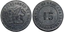 Italy, Venice, Provisional Government - 15 centesimi 1848