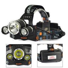 Rechargeable 8000LM XML 3xT6 LED Headlamp Headlight Head Torch Light Flashlight