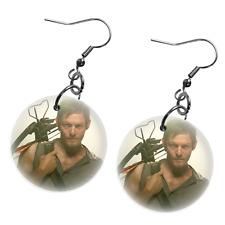 "Daryl Dixon Walking Dead Personalized 1"" Fashion Button Earrings"