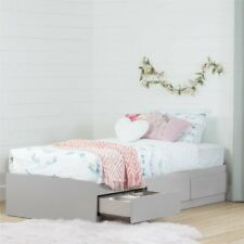 South Shore Vito Twin Mates Bed with 3 Drawers in Soft Gray