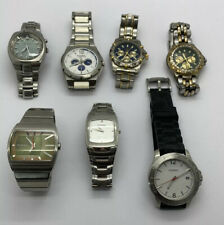 Lot Of (7) Men's Fossil Watches Need Batteries