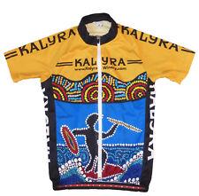 Kalyra Winery Full-Zip Bike Jersey with Aboriginal Print, Women's S