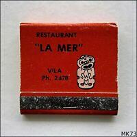 Restaurant La Mer Vila 2478 Matchbook (MK73)