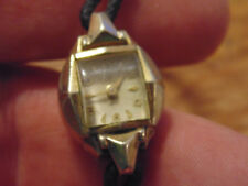 Ladies Watch Helbros 17j 17 jewels for parts repair 10k rolled gold plate