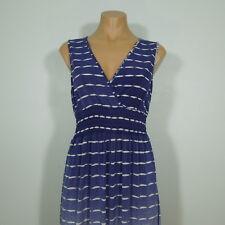 MLLE GABRIELLE Long Sleeveless Summer Dress, Cross Front, size S