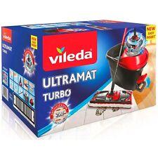 Turbo Mop & Bucket Set Vileda ULTRAMAT Spinning Wringer Easy Cleaning UK Seller!