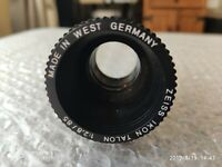 VINTAGE Zeiss Ikon Talon 1:2.8 / 85mm Projection Lens Made In W.Germany used