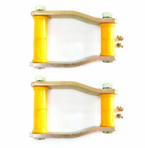 Rear Extended Lift Shackles + Bushes For Toyota Hilux MK6 2.5TD / 3.0TD (05-17)