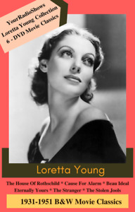 Loretta Young Movie & Radio 2 Case Collection-6 Movies & 6 Audio Old Time Radio