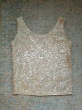 New listing Vintage 1960s Beaded Sweater Tank Top With Sequins