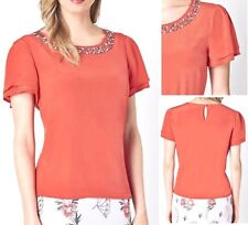 Party Short Sleeve Classic Petite Tops & Shirts for Women