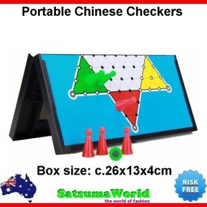Chinese Checkers foldable travel game magnetic board portable carry on design