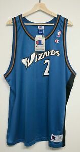 VTG 90s Mitch Richmond Washington Wizards Champion Jersey 52/XXL New w. Tags NBA