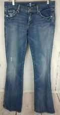 "7 Seven For All Mankind Jeans Womens 29 A Pocket 34"" Inseam Bootcut Flare"