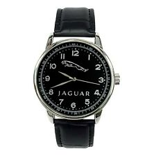 JAGUAR Mens Stainless Steel BLACK Dial BLACK Leather Strap Sport CAR Watch