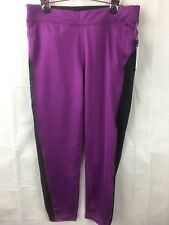 Without Walls Wos Leggings Medium Yoga Purple Black Mesh reflective New 1167