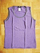 @ JETTE @ CLASSIQUE Débardeur violet avec cachemire gr. 40/42 Size L US 12 UK 14