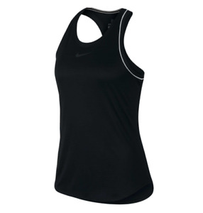 Nike Tank Top Womens Medium Authentic NikeCourt Tennis Training Racerback Black