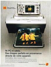 PUBLICITE ADVERTISING 095  2004   KODAK appareil photo EASYSHARE