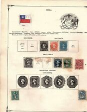 Chile stamp Collection from 1855-1874 from 1875 album cv 511.00 (mb10