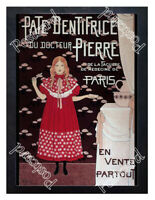 Historic French tooth paste 1890s Advertising Postcard