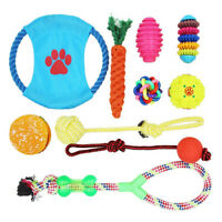 Dog Plush Toys Full 10 Pack Ball Rope Chew Pet Toy For Medium To Small Puppy New