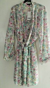 WOMENS/GIRLS 2 PIECE SHEER FLORAL CHEMISE - WRAP SIZES 10/12. 14/16 .