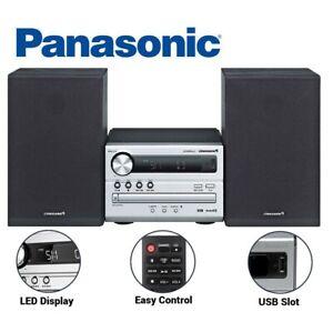 Panasonic Hi Fi Stereo System Radio FM AM Bluetooth CD MP3 USB Sound System NEW