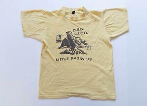 Vintage Shirt Adult Medium Yellow 70's Single Stitch Tee True Vintage Big Basin