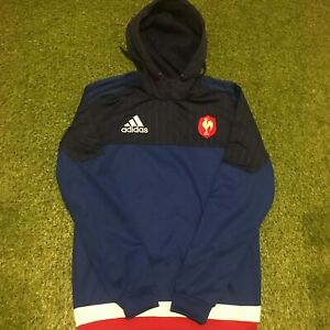 France Rugby Hooded Hoodie Top Jacket Adidas - Small
