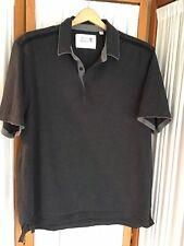 Hickey Freeman Clothing Mens Knit Polo Golf Shirt 100% Cotton Gray Size XL