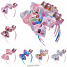 "6"" Girls Kids Bows Headbands Hair Band Unicorn Hair Accessories Cartoon Hair Bow"