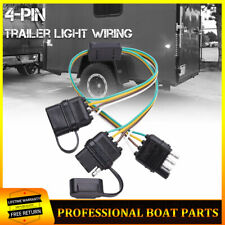 4-Pin Adapter Tow Hitch Y Splitter Dual Plug Trailer Harness For LED Light