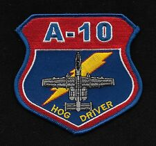 USAF A-10 HOG DRIVER Military Patch - United States Air Force