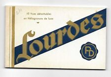 Vintage Book of (10) Postcards from LOURDES, France
